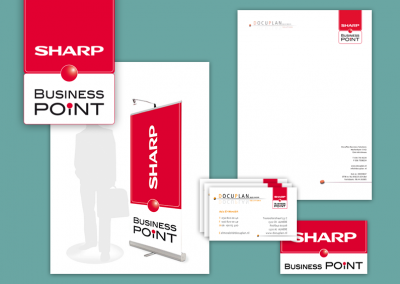 Sharp Business Point logo en huisstijl