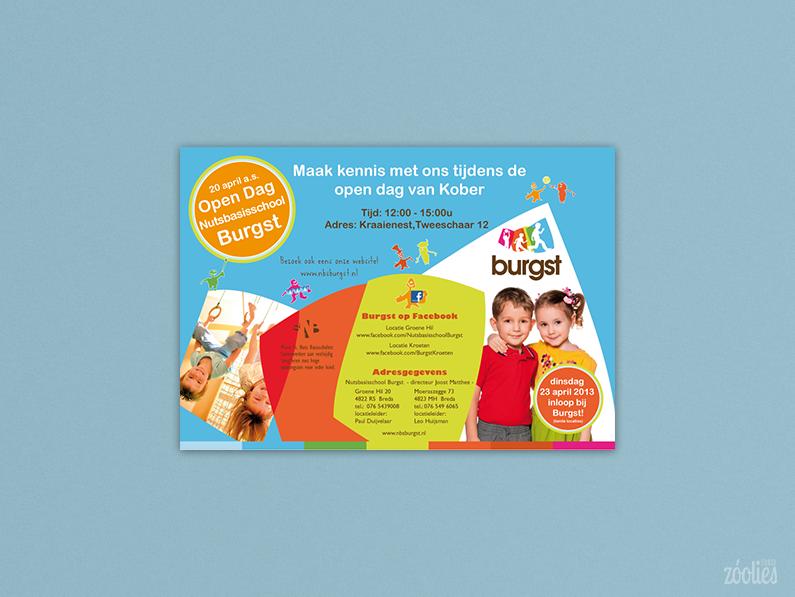 Basisschool Burgst – flyer open dag