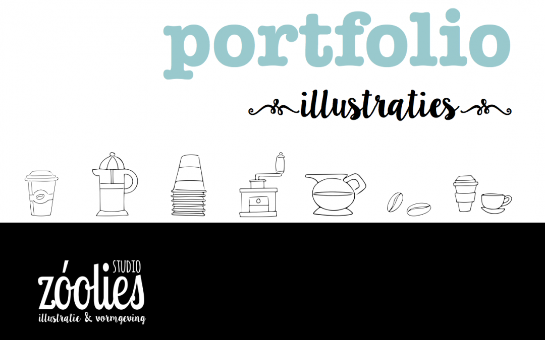 Portfolio met illustraties