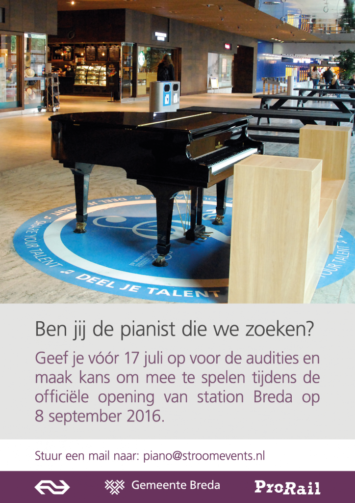 werving pianisten station Breda