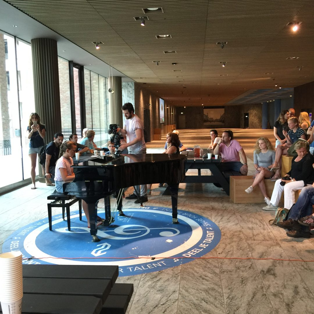 Piano audities voor opening station Breda